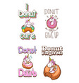 cute unicorn and donuts quotes vector image