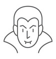 dracula thin line icon halloween and evil vector image vector image