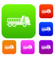 dumper truck set color collection vector image vector image