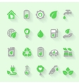 Ecology icons with environment green energy and vector image vector image