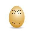 egg sleep cartoon vector image vector image
