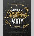elegant christmas poster template with shining vector image