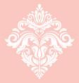 elegant vintage white ornament in classic vector image
