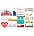 exclusive sleeping furniture design bedroom with vector image