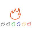 flame contour icon vector image vector image