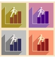 Flat with shadow concept icon man climbs on vector image vector image