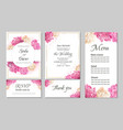floral card for wedding invitations white round vector image vector image