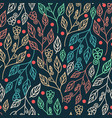 floral seamless pattern with leaves and beautiful vector image vector image