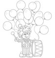 funny clown drummer vector image vector image