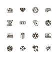 gambling - flat icons vector image vector image
