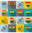 Gay pride icons set flat style vector image vector image