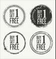 grunge rubber label with text buy one get one free vector image