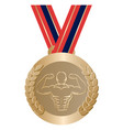 gym sport gold medal vector image