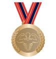 gym sport gold medal vector image
