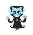 happy cartoon vampire vector image vector image