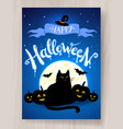 happy halloween postcard design vector image vector image