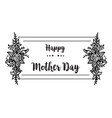 happy mother day gretting card flower vector image