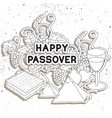 Happy Passover Greeting card vector image vector image