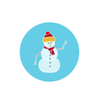 Icon Colorful Christmas Snowman vector image vector image