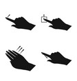 isolated object touchscreen and hand logo set vector image
