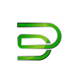 letter dd logo design template vector image