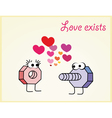 Love postcard of nut and bolt in love vector image vector image