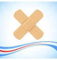 Medical Bandage Cross vector image vector image