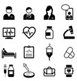 medical healthcare and health icon set vector image