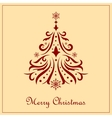 Ornate Christmas tree vector image vector image
