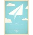 Paper plane concept vector image