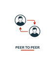 peer to peer icon creative two colors design from vector image vector image
