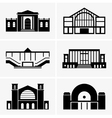 Railway station vector image vector image