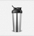 realistic 3d empty glossy metal shaker for vector image vector image