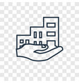 residential concept linear icon isolated on vector image