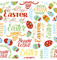 seamless colorful pattern with a wreath flowers vector image
