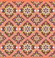 seamless hand drawn mandala pattern vector image vector image
