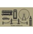 set london landmarks britain symbols isolated vector image