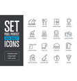 set pixel perfect high quality lines icons vector image vector image