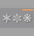 silver christmas decoration set silver glitter vector image vector image