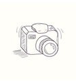 Sketched digital camera desktop icon vector image vector image