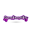 spontaneity calligraphic pink font text logo icon vector image