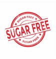 sugar free red rubber stamp vector image vector image