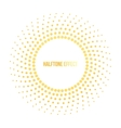 sun with halftone effect vector image vector image