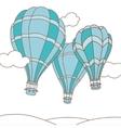 three hot air balloons vector image vector image