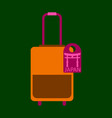 travel suitcase for camping tourism cartoon of vector image vector image