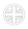 united kingdom flag badge round button vector image