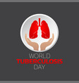 world tuberculosis day logo icon design vector image vector image