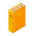 yellow folder icon isometric style vector image