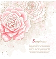Romantic background with pink roses vector image