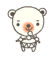 A drumming bear vector image vector image